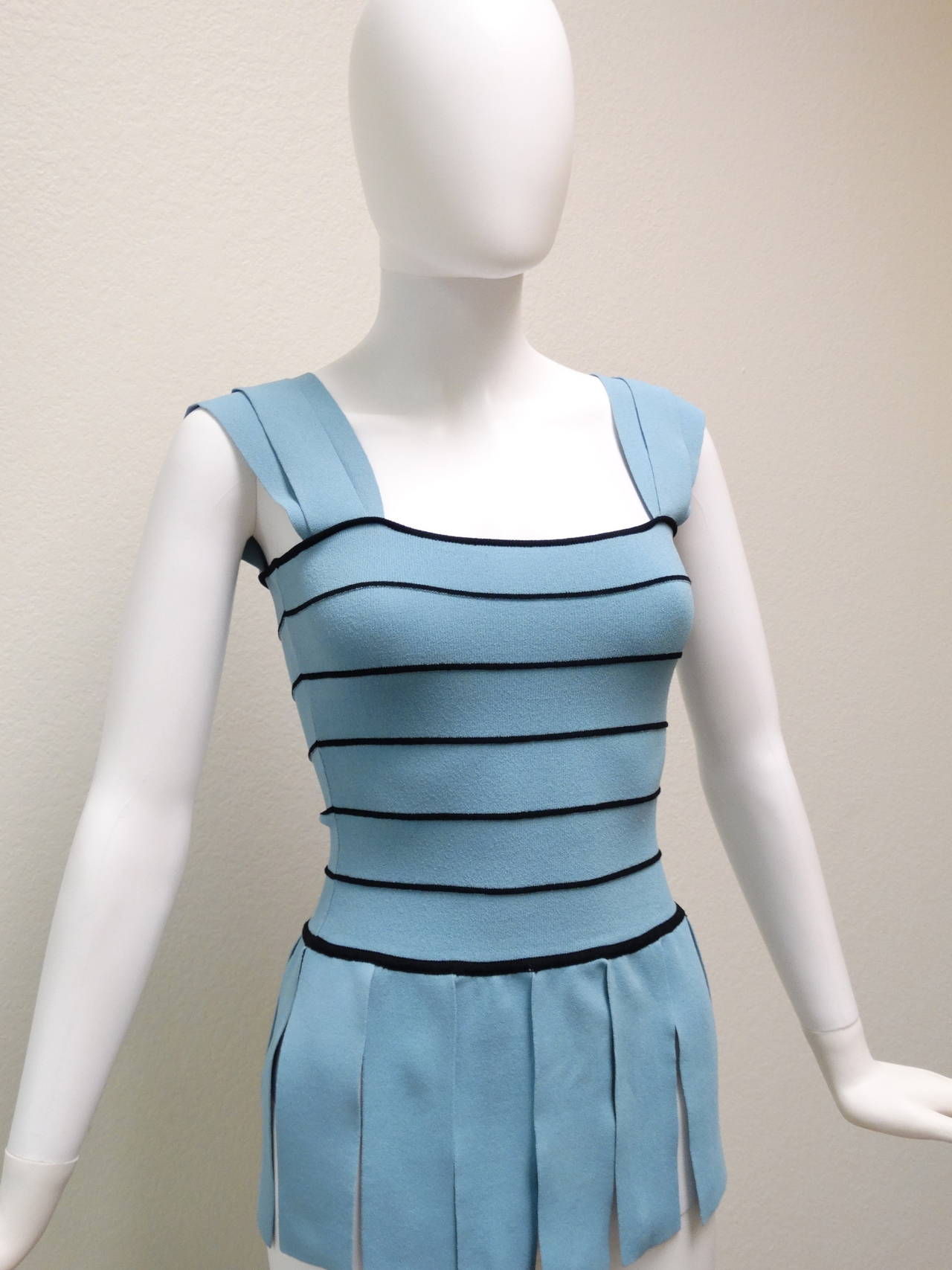 """1990s Moschino """"Roman CarWash"""" Bandage Bodycon Top In New never worn Condition For Sale In Scottsdale, AZ"""