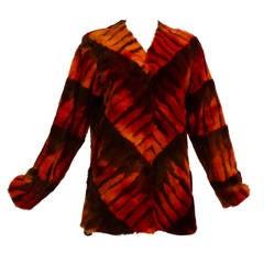 """Giuliana Teso """" Chevron Pattern"""" Fur Pullover"""