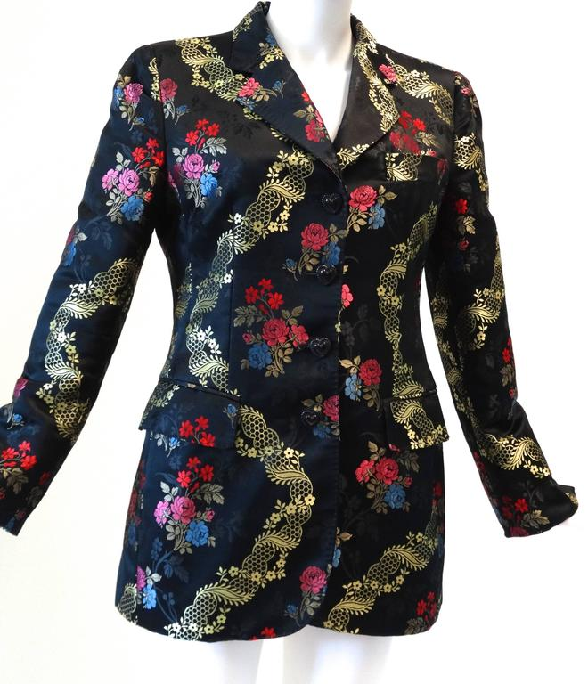 1990s Moschino Couture Silk Evening Jacket  9