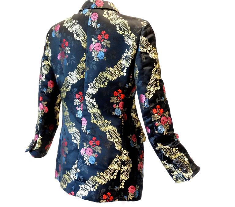 1990s Moschino Couture Silk Evening Jacket  7