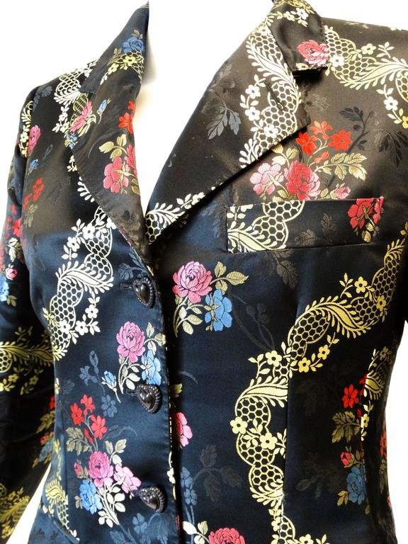 1990s Moschino Couture Silk Evening Jacket  8