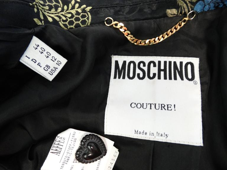 1990s Moschino Couture Silk Evening Jacket  3