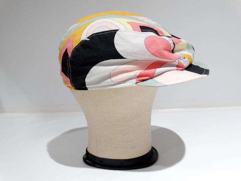 Beige 1980s Emilio Pucci Newsboy Cap For Sale