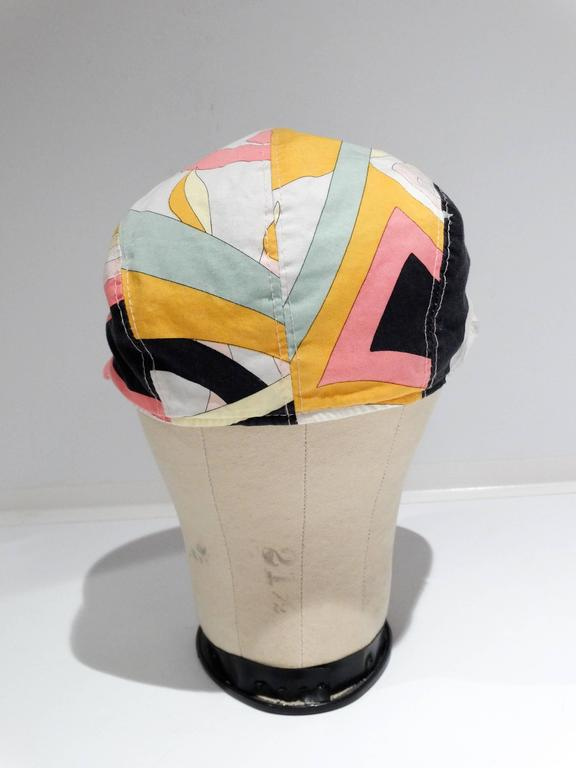 1980s Emilio Pucci Newsboy Cap For Sale 2