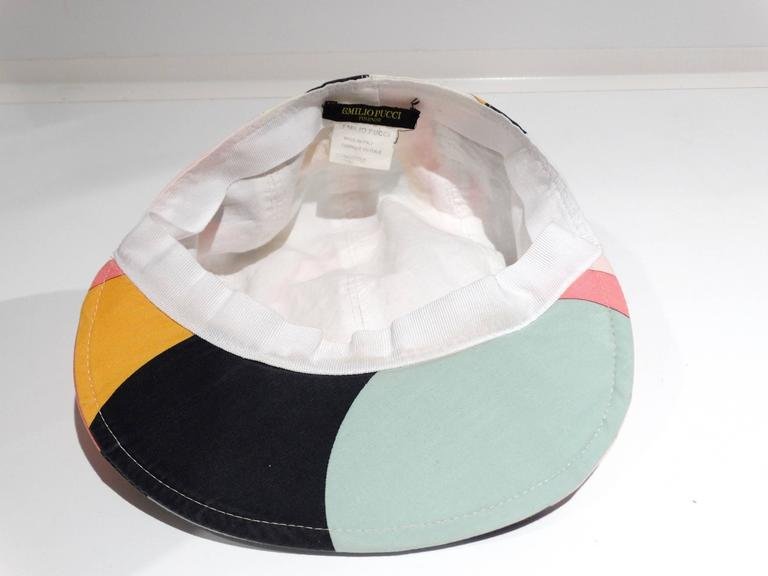 1980s Emilio Pucci Newsboy Cap For Sale 1