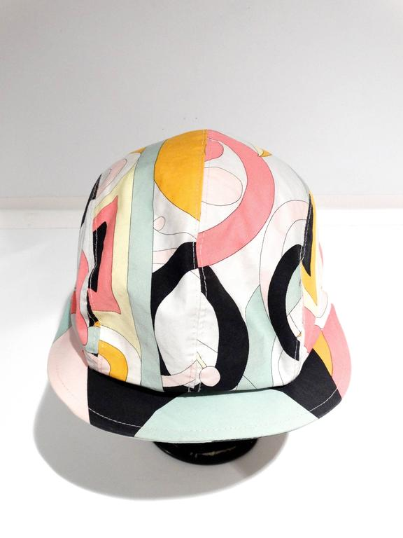 Women's or Men's 1980s Emilio Pucci Newsboy Cap For Sale