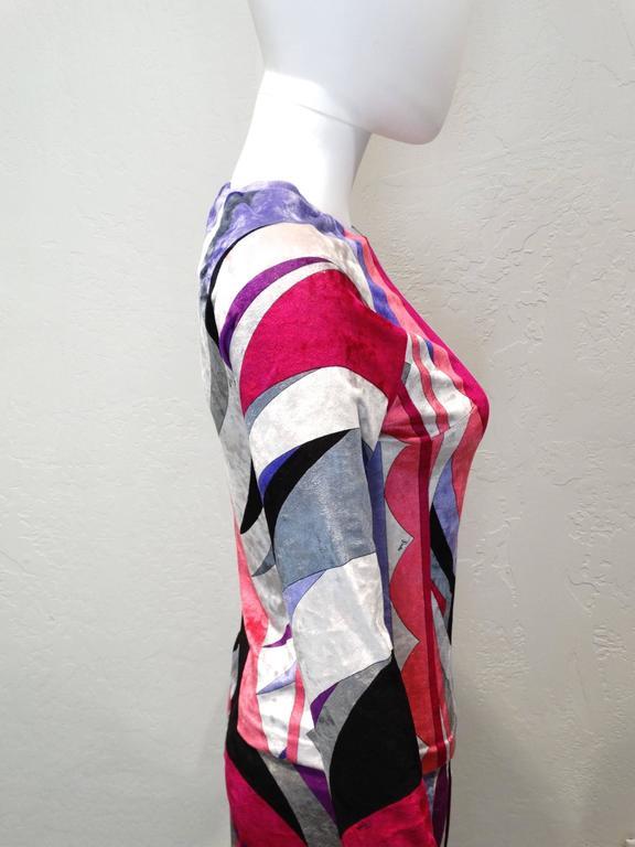 1990s Emilio Pucci Velveteen Pant Suit For Sale 2