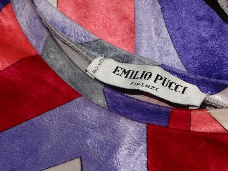 Pink 1990s Emilio Pucci Velveteen Pant Suit For Sale