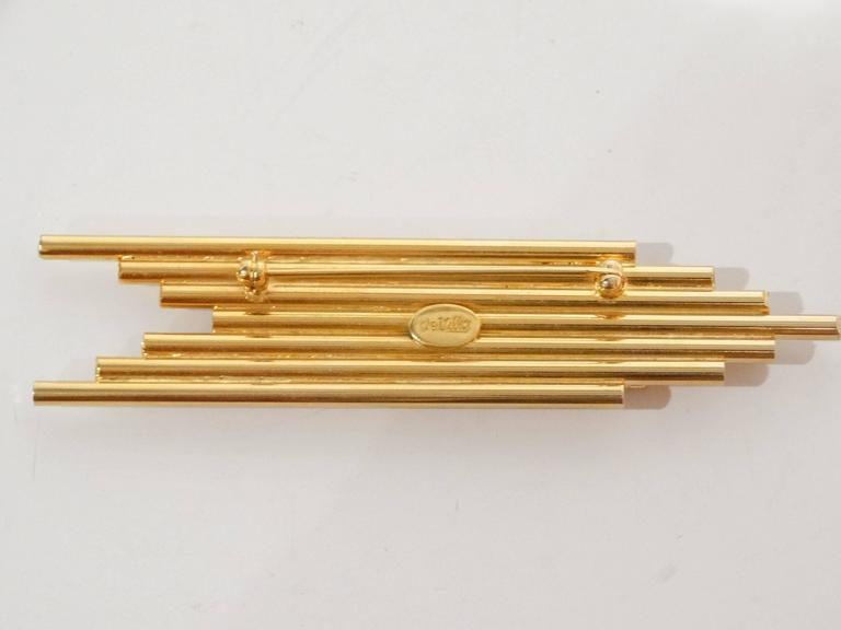 "1970s William De Lillo ""PEACE""Brooch  6"