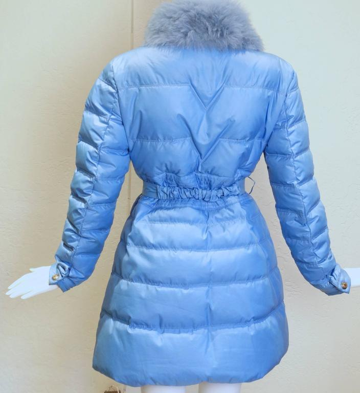 2013 Versace Collection Puffer Jacket with Fur Collar  9