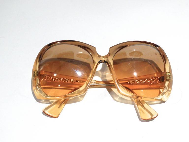 1970s Oscar De La Renta Mirrored Sunglasses At 1stdibs