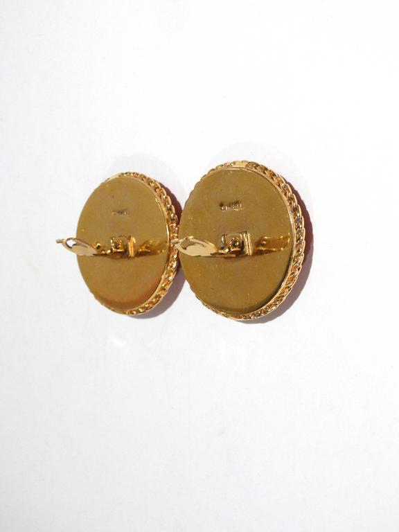 Women's 1980s Iconic Chanel Clover Earrings  For Sale