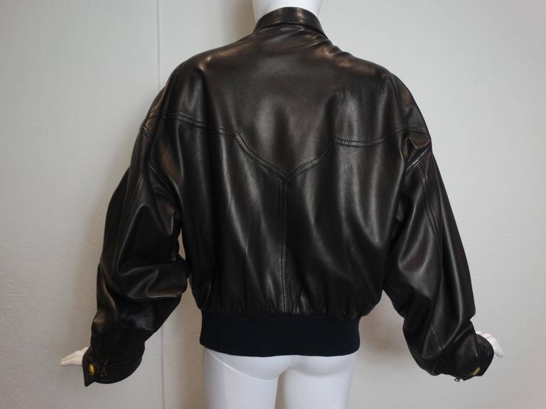 1990s Gianni Versace Couture Motorcycle Jacket  For Sale 3