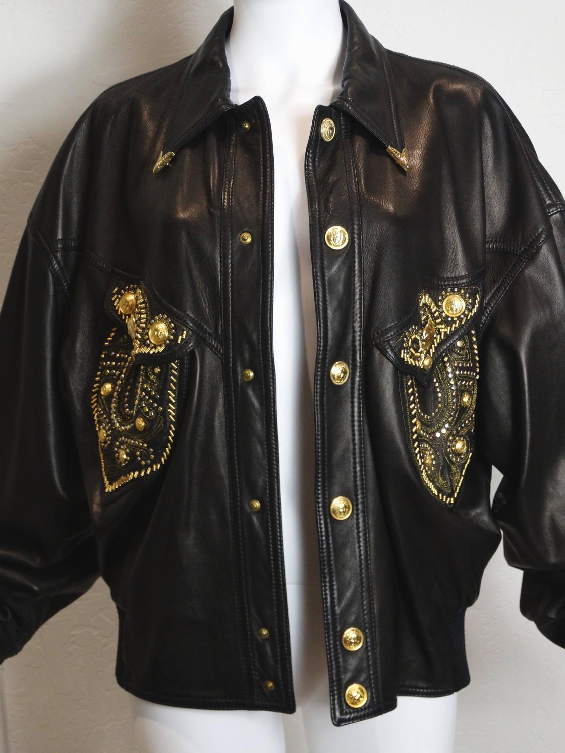 Motorcycle For Sale Az >> 1990s Gianni Versace Couture Motorcycle Jacket For Sale at ...