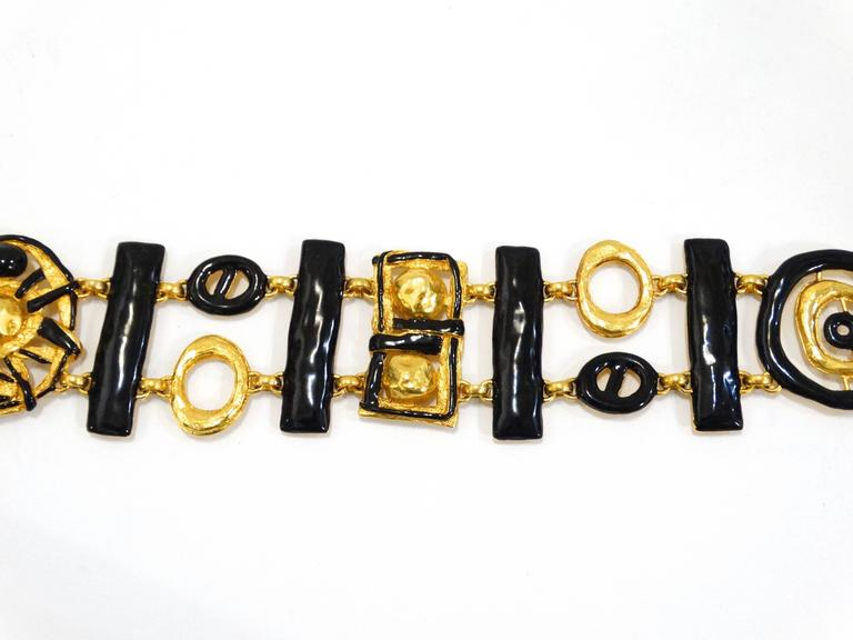 Christian LaCroix Runway Abstract Chain Belt, 1980s  For Sale 2