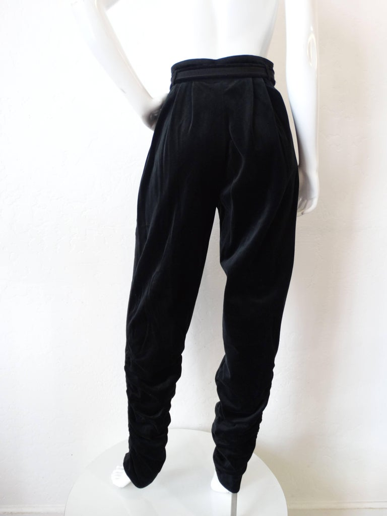 1980s Gianni Versace Velvet Riding Pants In Excellent Condition For Sale In Scottsdale, AZ