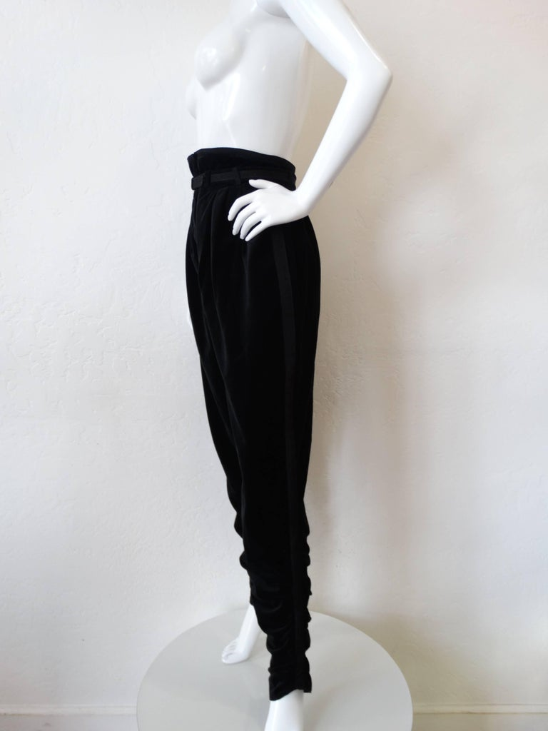 1980s Gianni Versace Velvet Riding Pants 7