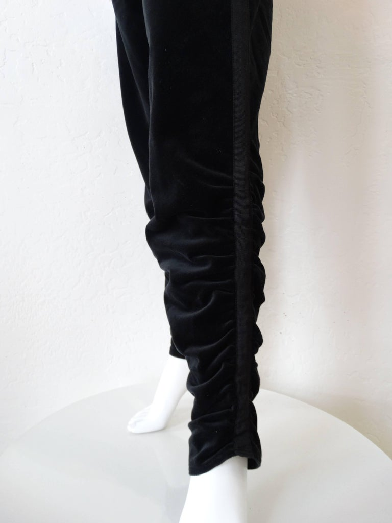 Women's 1980s Gianni Versace Velvet Riding Pants For Sale