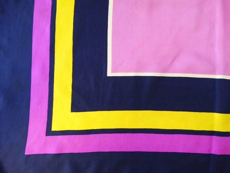 Yves Saint Laurent Color Block Silk Scarf, 1960s  For Sale 4