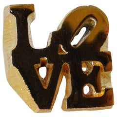 Robert Indiana LOVE ring, 1970s