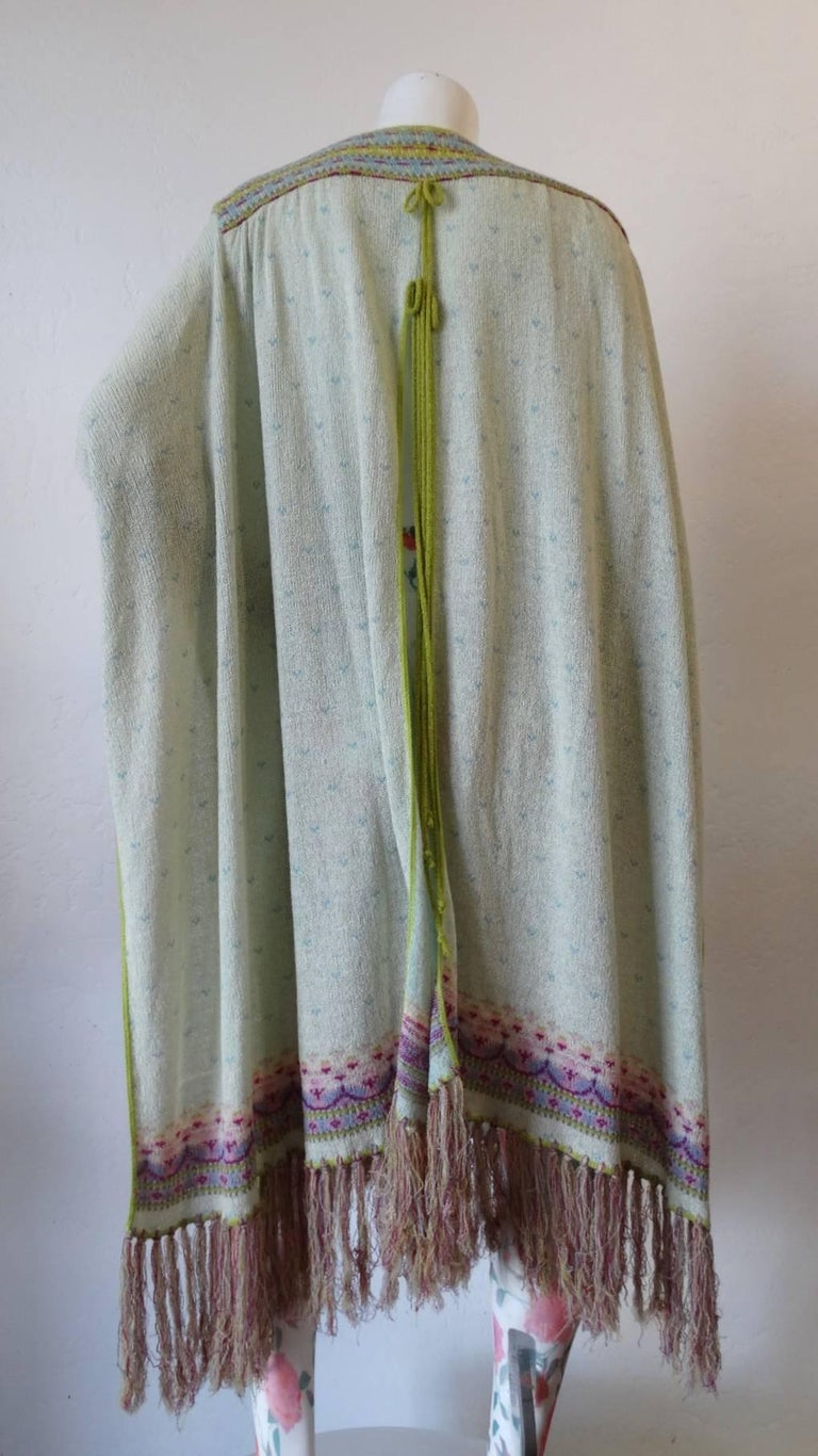 Bill Gibb Knit Duster Jacket, 1970s  In Excellent Condition For Sale In Scottsdale, AZ