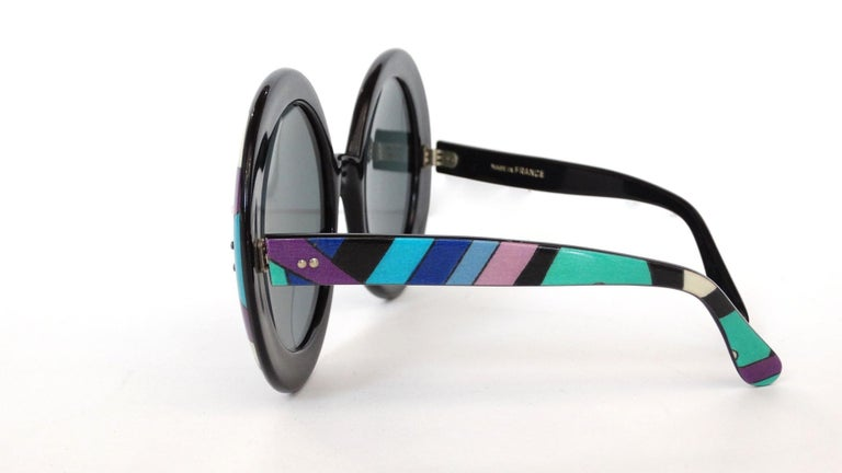 24cd6492d Channel your inner Iris Apfel with our incredible 1960s Pucci Sunglasses!  These babies are OVERSIZED