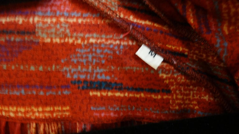 1970s Missoni Silk Wrap Dress with Rope Belt For Sale 13