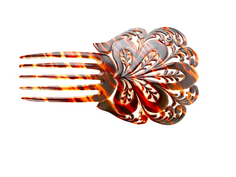 1920s Mantilla Tortoiseshell Hair Comb  For Sale 1