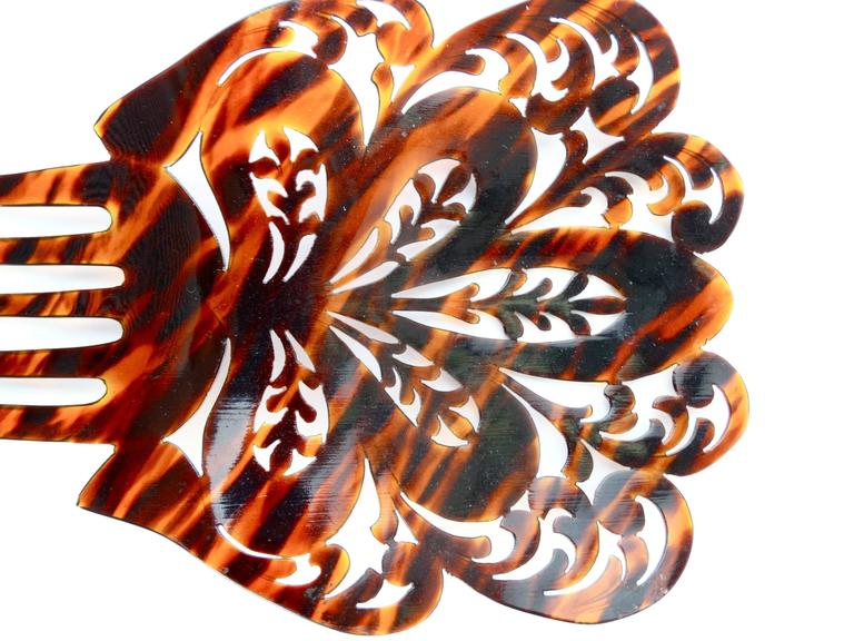 1920s Mantilla Tortoiseshell Hair Comb  For Sale 2