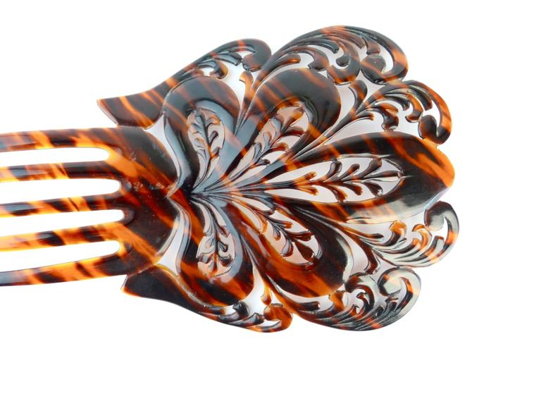 1920s Mantilla Tortoiseshell Hair Comb  For Sale 3