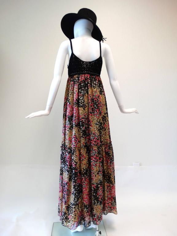 Women's 1990s M Missoni Crochet Lame' Maxi Dress For Sale