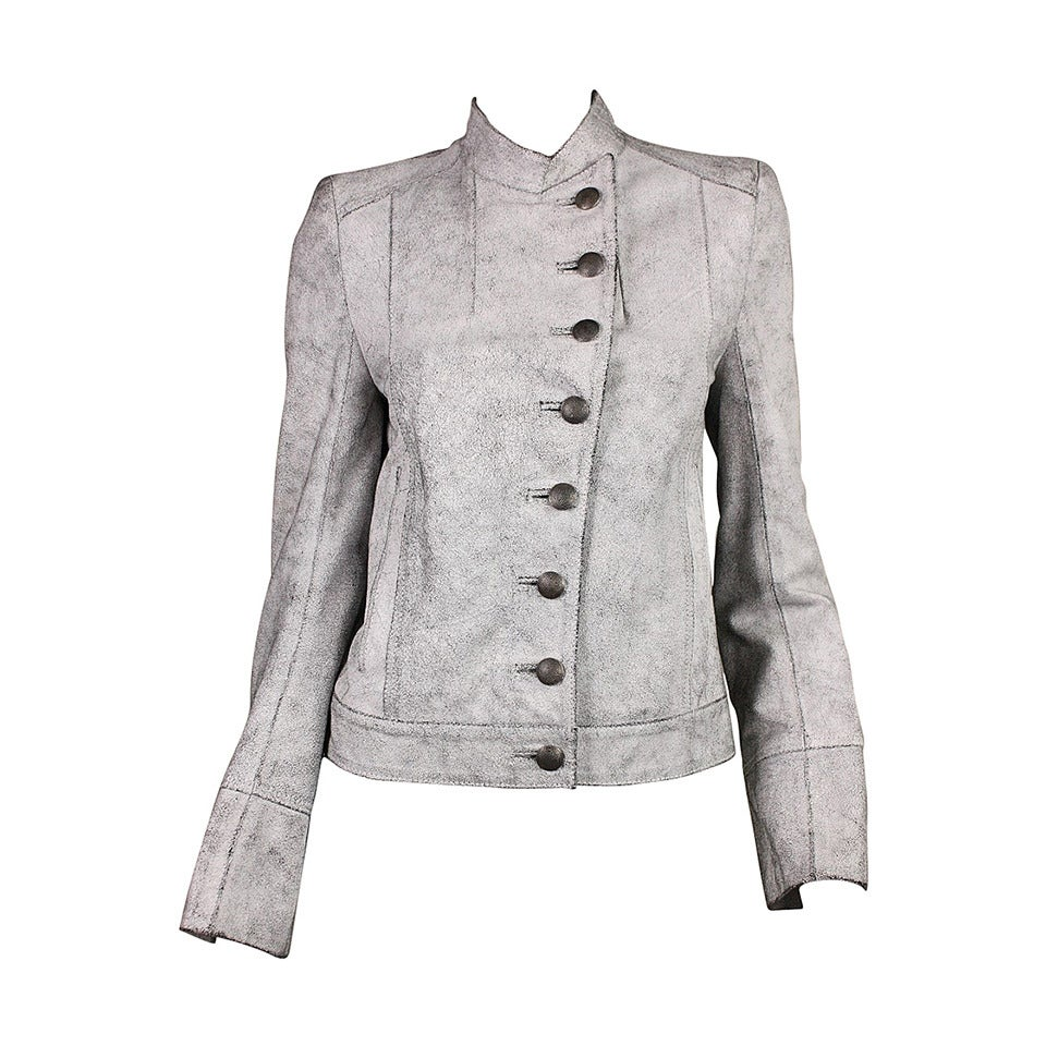 Ann Demeulemeester Textured Leather Jacket
