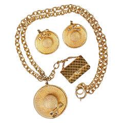 Chanel Necklace & Earrings Set