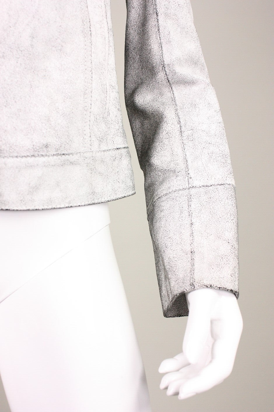 Ann Demeulemeester Textured Leather Jacket 7