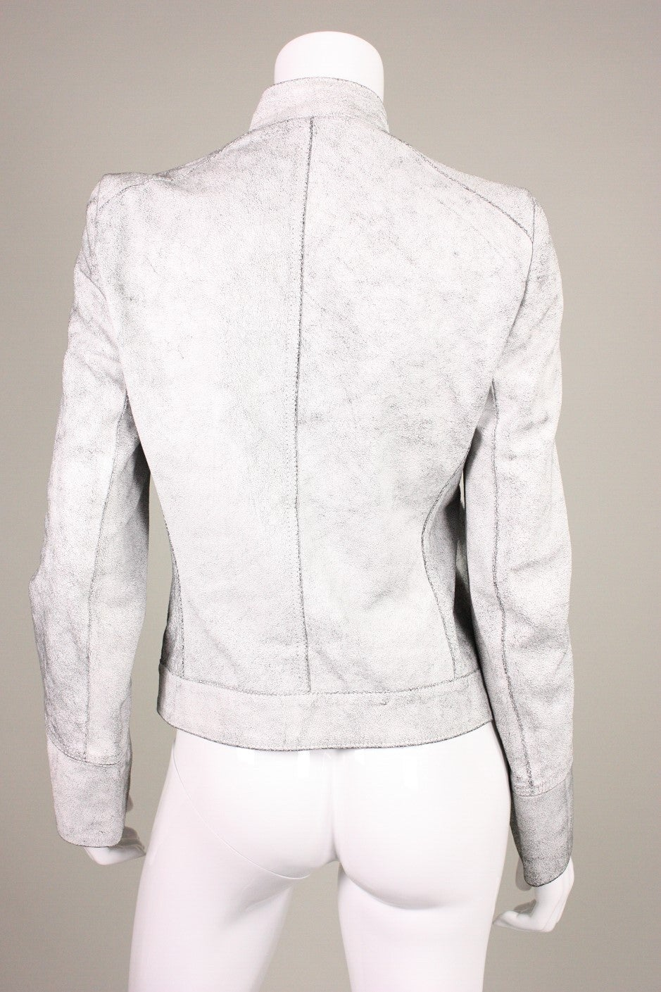 Ann Demeulemeester Textured Leather Jacket 4