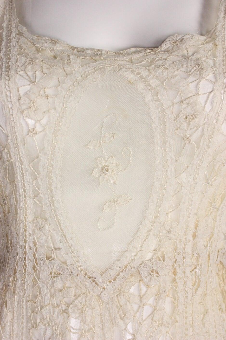 Edwardian Battenburg Lace Dress 5