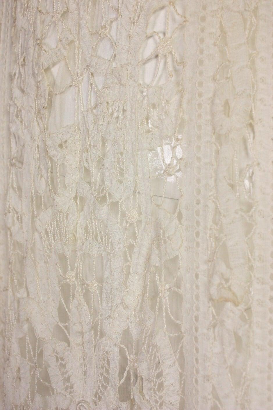 Edwardian Battenburg Lace Dress For Sale 2