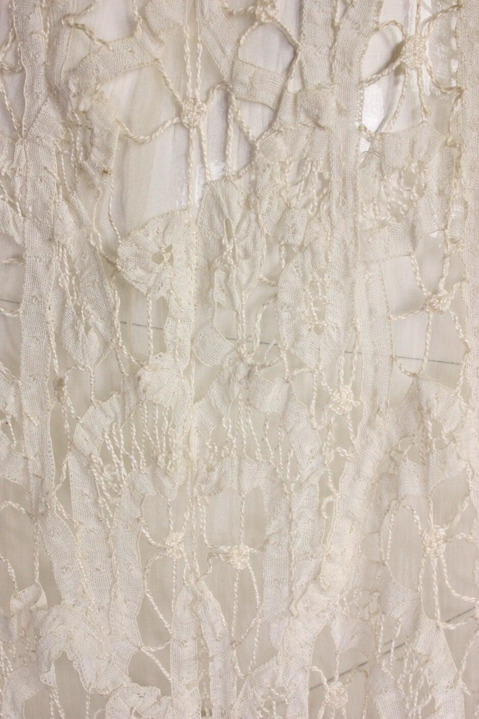 Edwardian Battenburg Lace Dress For Sale 1