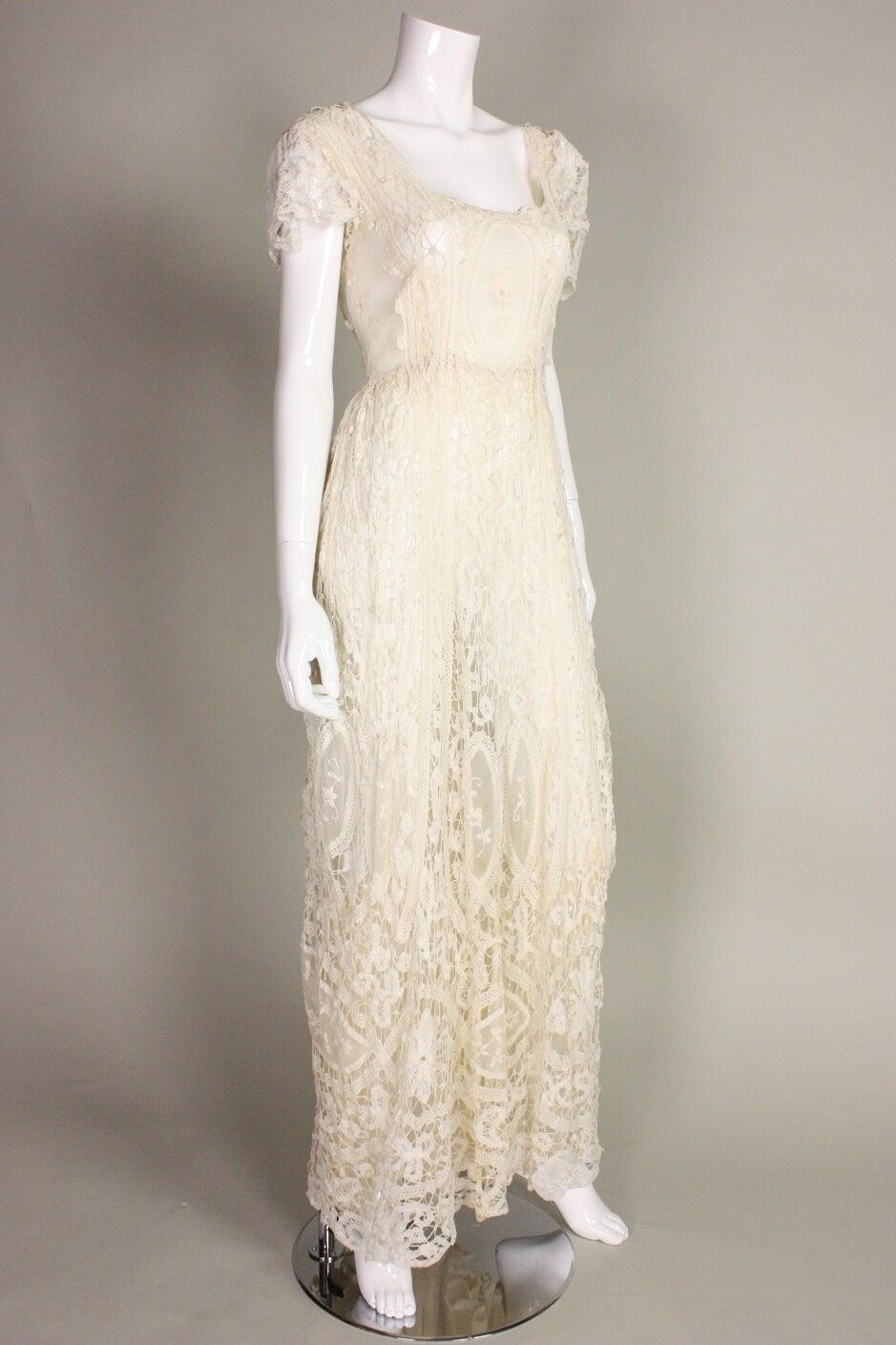 Edwardian Battenburg Lace Dress 2