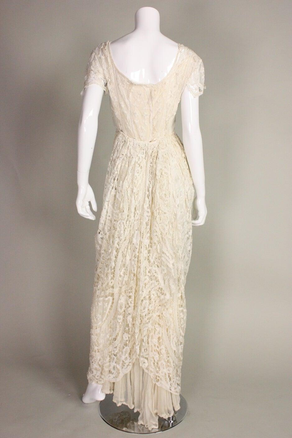 Edwardian Battenburg Lace Dress 4