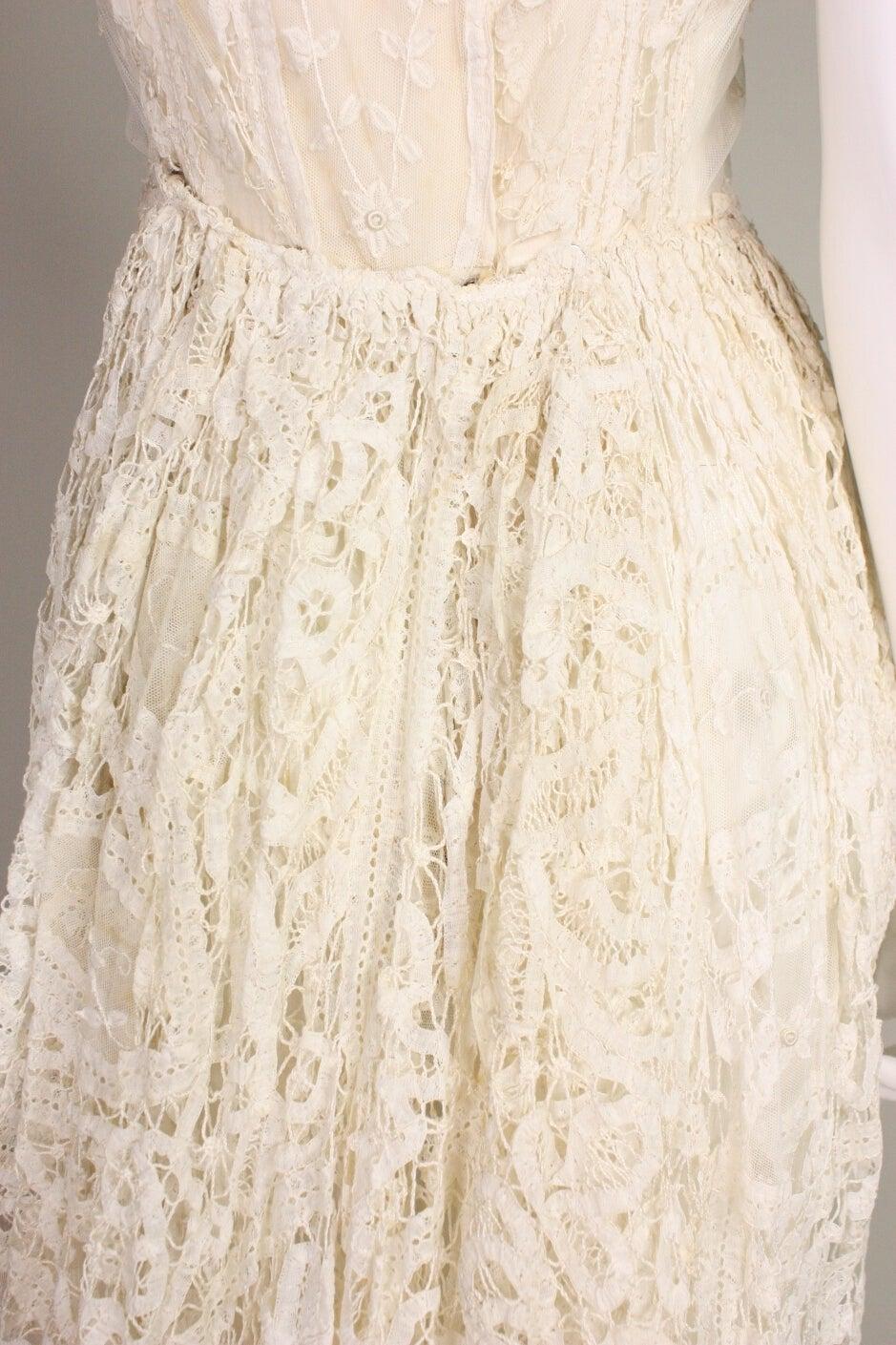 Edwardian Battenburg Lace Dress For Sale 3