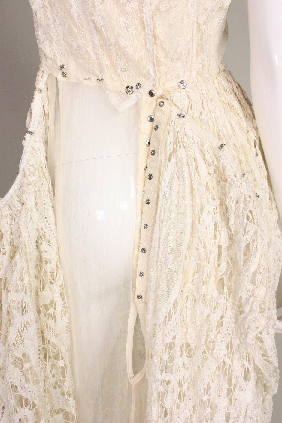 Edwardian Battenburg Lace Dress For Sale 4