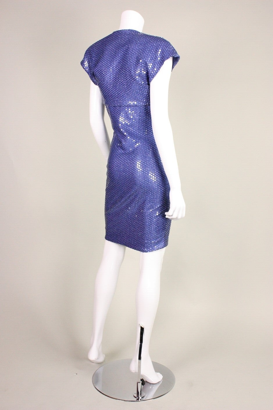 "Patrick Kelly ""Denim"" Jersey Sequined Dress & Bolero 4"