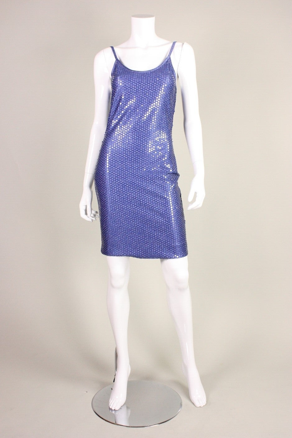 "Patrick Kelly ""Denim"" Jersey Sequined Dress & Bolero 7"