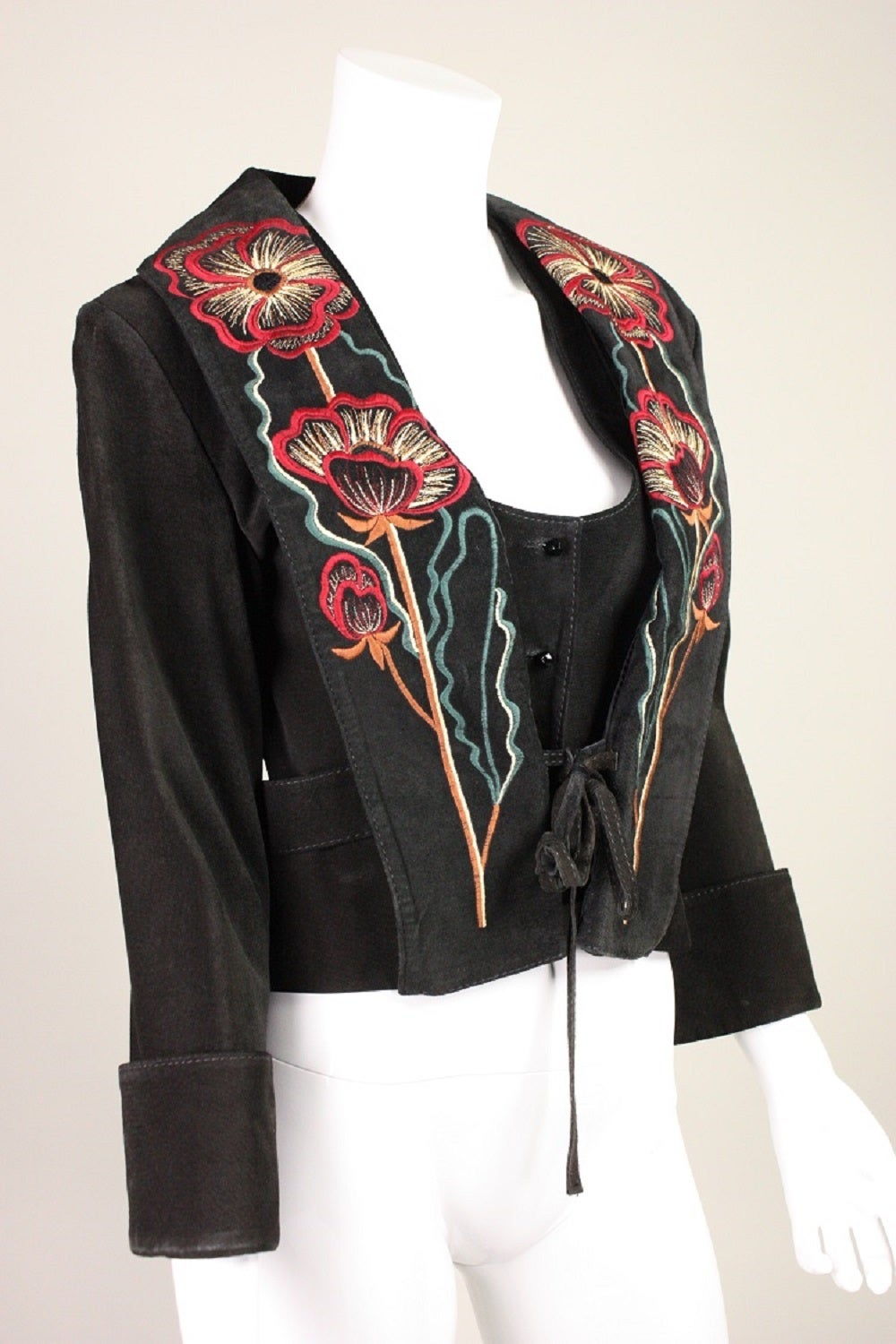 1970's Bill Gibb Suede Jacket & Vest with Embroidery 2