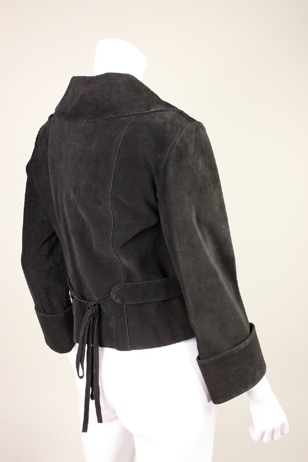 1970's Bill Gibb Suede Jacket & Vest with Embroidery 3