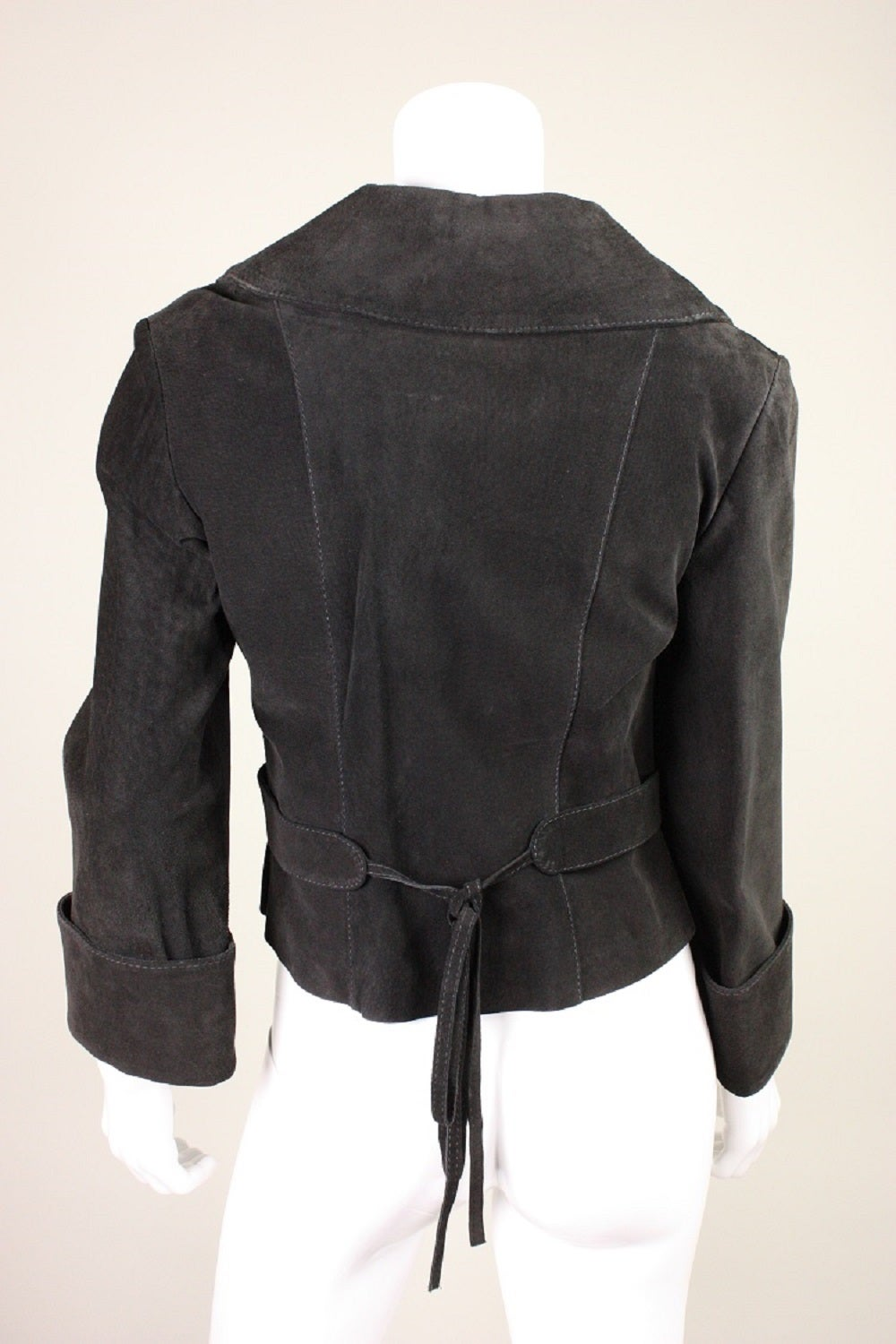 1970's Bill Gibb Suede Jacket & Vest with Embroidery 4