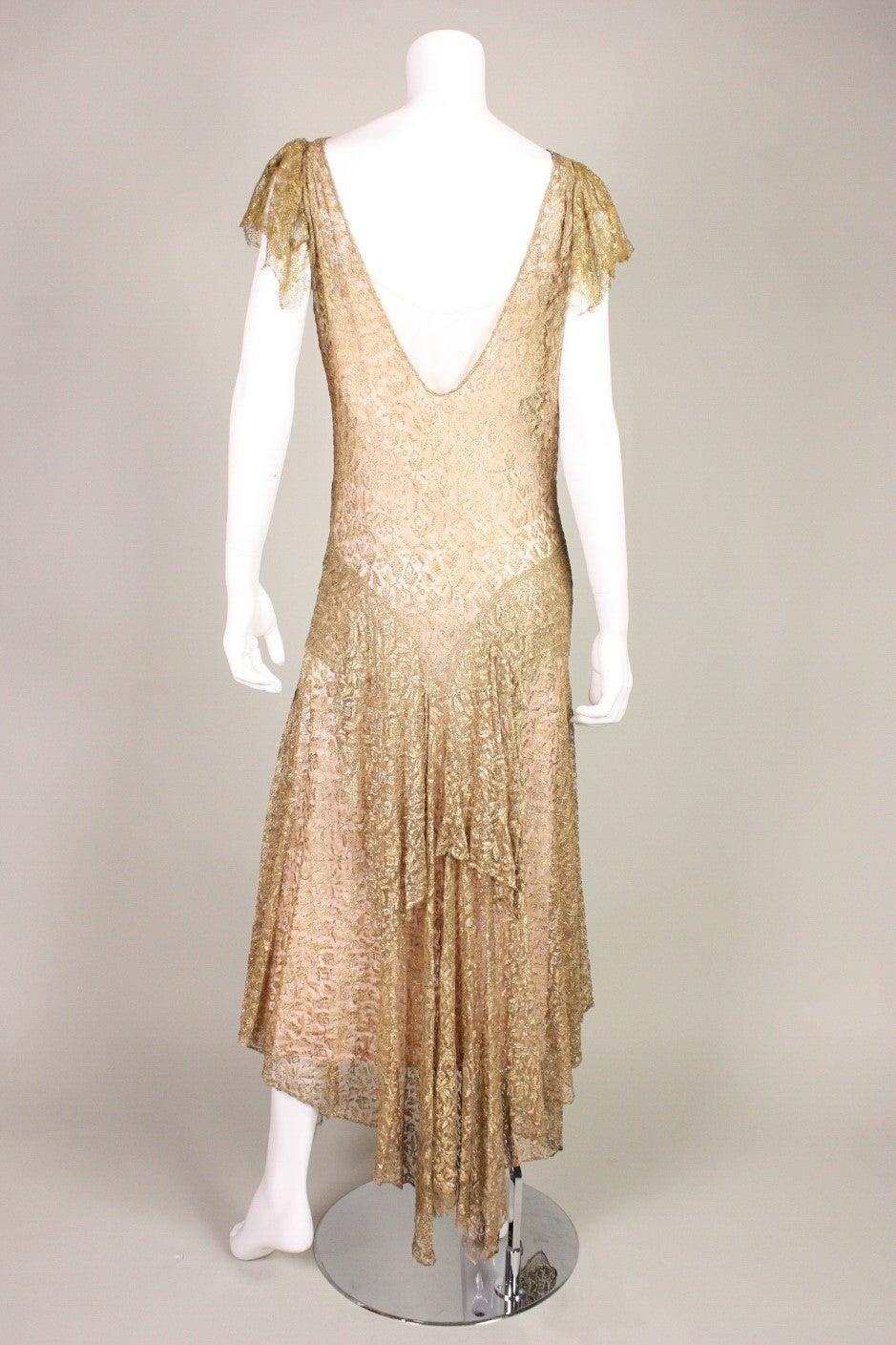 Metallic Slip Dress