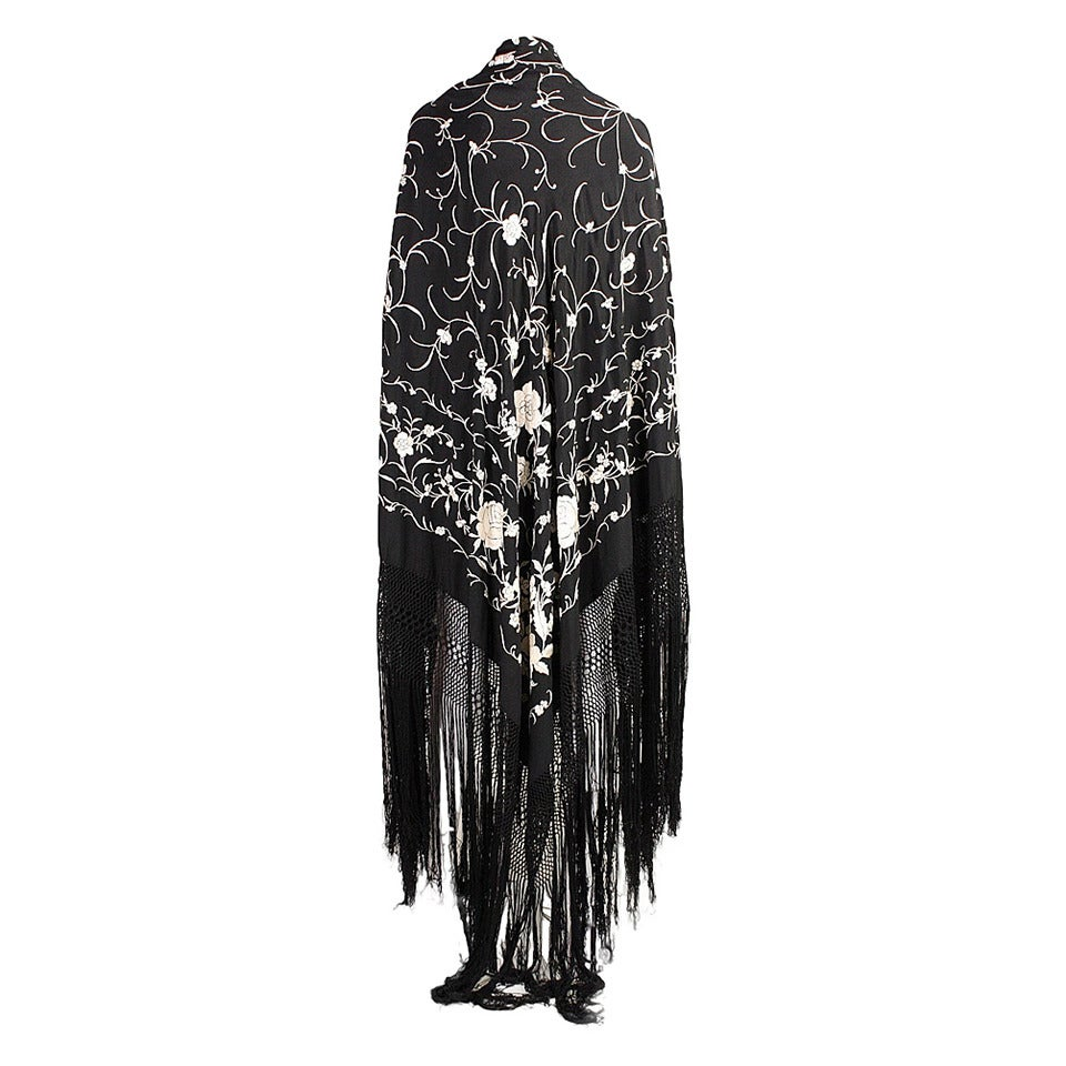 1920's Black Piano Shawl 1