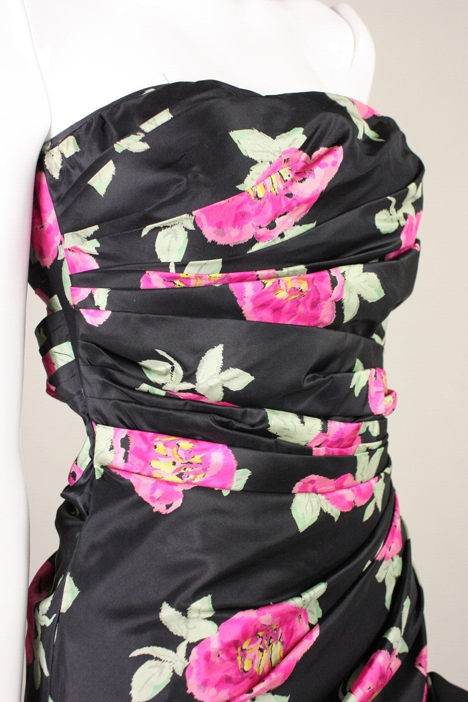 1980's Ungaro Floral Evening Dress For Sale 1